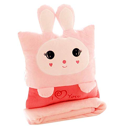 Ankidz 3 in 1 Cute Animal Shape Soft Home Office Pillow Blanket Plush Toy Standard Pillows