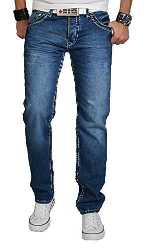 Straight Jeans Rock Used Blu Creek Uomo WPYzwqO7z