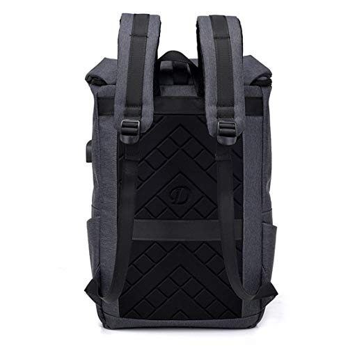Multifuncional Mochila Black Para Carga color Pulgadas Olprkgdg Dark 6 Usb Gray Con Computadora 15 Impermeable qa5d46pw4Z