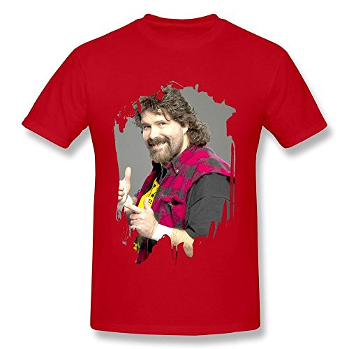 (Men's Mick Foley Wrestler Poster Short Sleeve Tees Size XL)