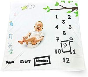 Amazon Giveaway Baby Milestone Blanket Newborn Baby Shower Gift