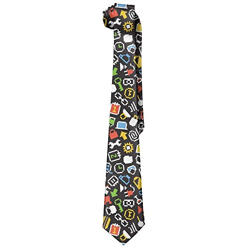 Jadetian Novelty Men's Wide Tie Long Necktie Quirky Music For Video Printed Polyester Silk Tie from Jadetian