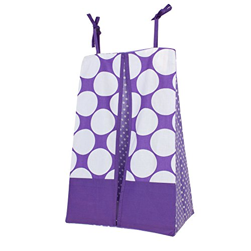 Bacati Match Diaper Stacker Purple product image