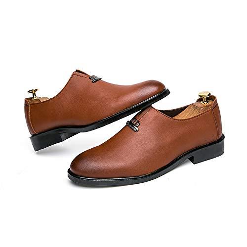Casual Cricket Business Traspiranti Fashion Scarpe da Scarpe Antiruggine Marrone Classic da Oxford Men's Ginnastica ZE17npFZ