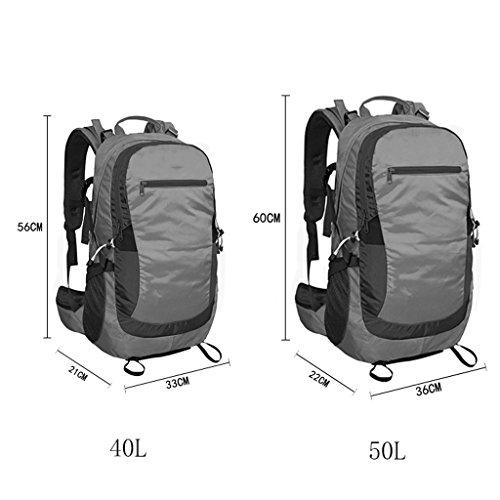AMOS Al aire libre alpinismo bolsa de viaje bolsa de viaje de viaje bolsa de mochila hombro hombres y mujeres 40L 50L Rojo