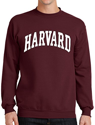 New York Fashion Police Harvard Sweatshirt University Crewneck Sweat Shirt Crimson S
