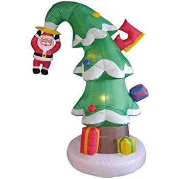 Amazon.com: 6 foot Crashed en árbol de Navidad de Papá Noel ...