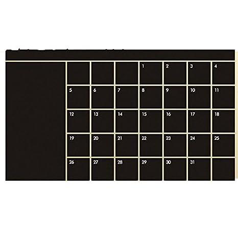 Amazon.com: Edtoy Chalkboard Calendar Sticker Blackboard ...