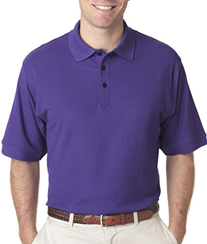 (Ultraclub Mens Whisper Pique Polo 8540 -Purple 6XL)