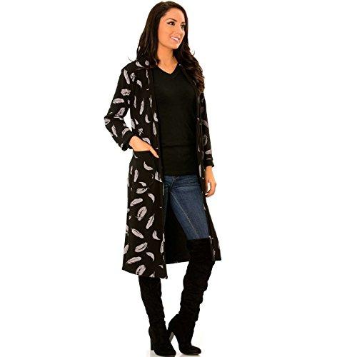 Gilet Wear Miss Long Line Noir 8Wq48wvYTF