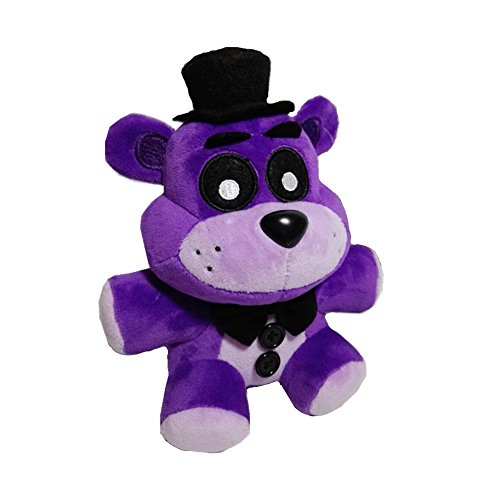 Five Nights At Freddy's Bear Costume (Soft and Beautiful New Purple Freddy Bear Stuffed Animal Plush Toy Doll 1pcs)