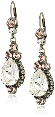 Sorrelli Womens Snow Bunny Sweet Treats Drop Earrings, Clear/Pink, 2