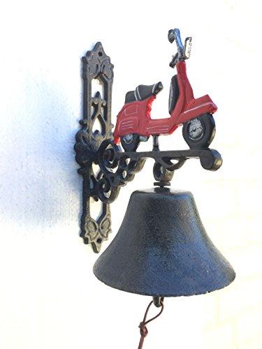 Wandglocke Glocke Türglocke Hausglocke Vespa Roller Gusseisen Antik Stil H 34 cm
