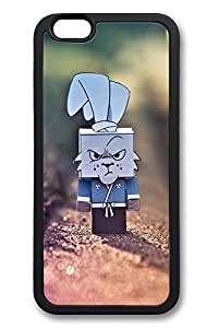 6 Case, iPhone 6 Case Cute Grumpy Cardboard Rabbit Ideas TPU Silicone Gel Back Cover Skin Soft Bumper Case Cover for Apple iPhone 6