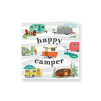 Amazon.com: Diseño de diseño Happy Camper Servilletas de ...