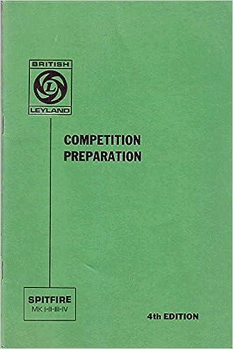 Triumph Spitfire Competition Preparation Manual Mk I Ii Iii Iv 4th