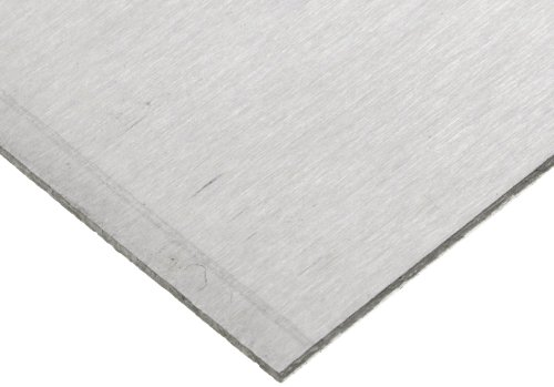 Magnesium Sheet, Unpolished (Mill) Finish, H24 Temper, 0.032'' Thickness, 6'' Width, 6'' Length by Small Parts