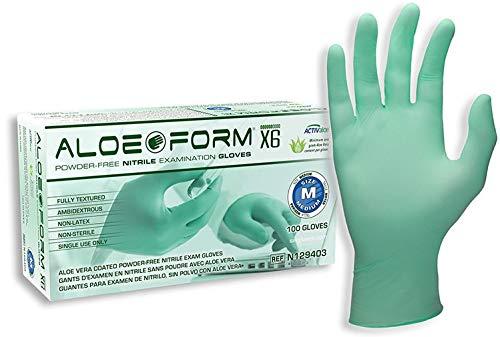 SW Safety N129406 AloeForm X6-XXL, Exam, Light Green, Nitrile, ACTIValoePowder-Free, (case of 1000)