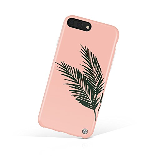 """iPhone 8 Plus & iPhone 7 Plus case for girls, Akna Charming Series Silicon cover for both iPhone 8 Plus & iPhone 7 Plus (5.5""""iPhone)[Dark Green Leaves](575-U.S)"""