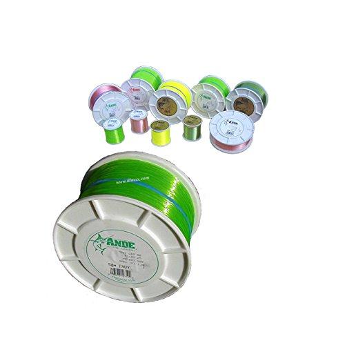 ANDE A14-40GE Premium Monofilament, 1/4-Pound Spool, 40-Pound Test, Bright Green Finish