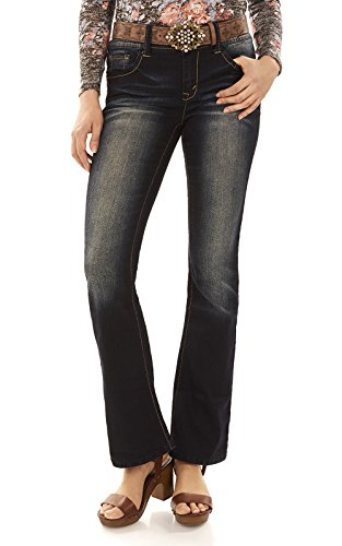 Belted Bootcut Jeans - 2