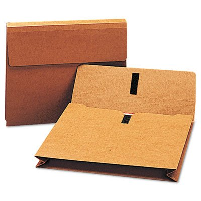 Two Inch Accordion Expansion Wallet with Velcro, Letter, Redrope, Total 50 EA, Sold as 1 Carton