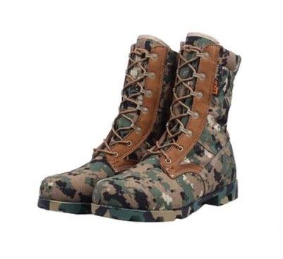 WZG desierto al aire libre de camuflaje botas militares de las fuerzas especiales hombre botas de combate botas tácticas botas de montaña marina lienzo Dark Green