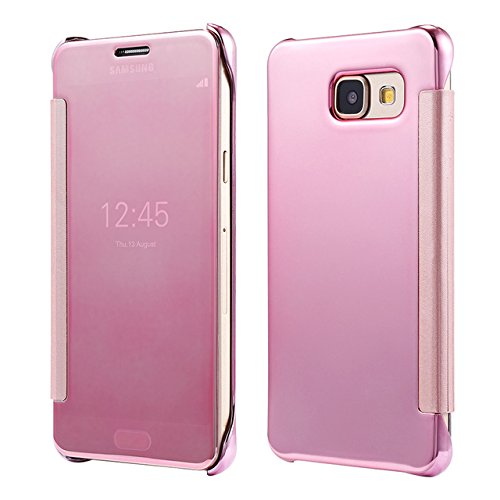 new products 9e765 2fe06 TGK® Samsung Galaxy A5(2016) Cases, Mirror Smart Clear View Window Flip  Case Cover for Samsung Galaxy A5(2016) SM-A5100, SM-A510F (Rose Gold)