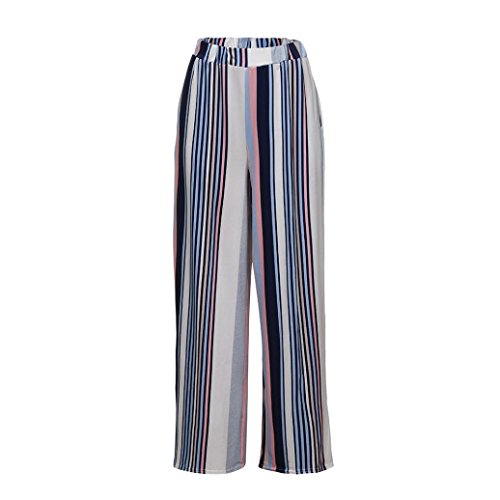 Goodtrade8® Clearance Sale! Women Casual Stripe Pants Workout Wide Leg Leggings Sports Running Yoga Athletic Pants Fashion Joggers Fitness Trouser (M, Multicolor)