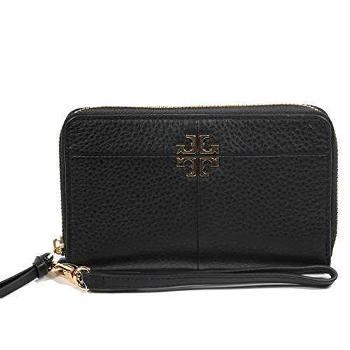 Tory Burch Wallet Wristlet Ivy Smartphone (Black) by Tory Burch