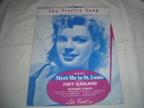 THE TROLLEY SONG H. MARTIN 1944 JUDY GARLAND SHEET MUS FOLDER 321 SHEET MUSIC ()