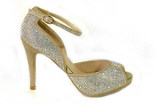 8028 Sandales pour femme SKO'S Gold 1 BInqd