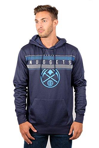 NBA Denver Nuggets Men's Fleece Hoodie Pullover Sweatshirt Poly Midtown, Medium, Navy