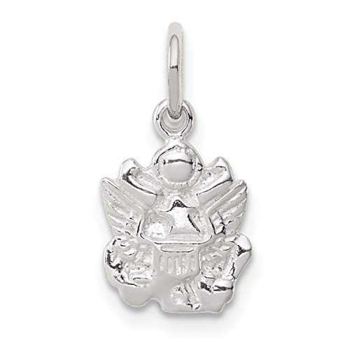 - United States Army Military Eagle Insignia Charm In 925 Sterling Silver 13x10mm