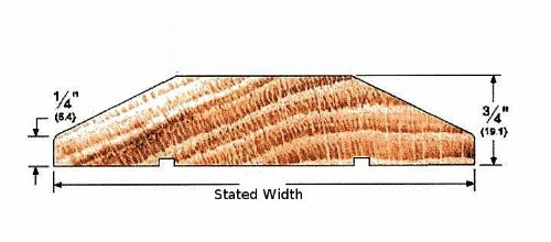Solid Cherry Interior Threshold - Style A (4 1/2'' x 60'') by Hartford Building Products, LLC (Image #1)