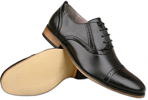Mr homme Noir Mr Shoes Shoes Richelieu 8RPq0q