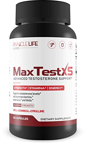 (Max Test XS- Advanced Testosterone Support- Helps With Strength Stamina and Energy- W L-Arginine & L-Citrulline 60 Capsules)