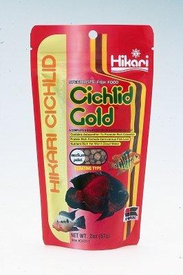 """HIKARI SALES U.S.A,INC - CICHLID GOLD (MEDIUM 2 OZ) """"Ctg: AQUATIC PRODUCTS - AQUATICS - FISH FOOD/FEEDERS"""""""