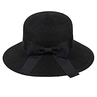 e5c007f4 Kelly Bro Bucket Hat,Lightweight Foldable Wide Brim Bow Straw Hat ...