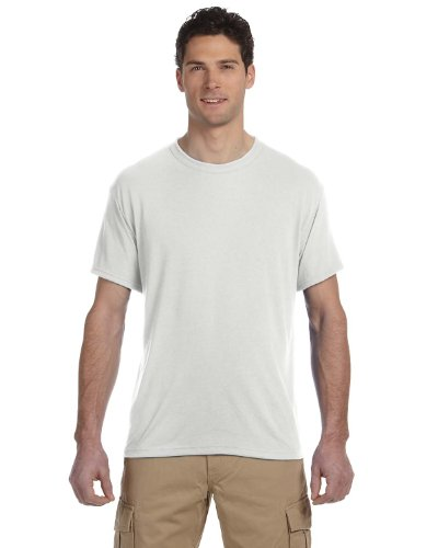 Jerzees - 5.6 oz Polyester Moisture-Management T-shirt, White, (5.6 Ounce Polyester Moisture)