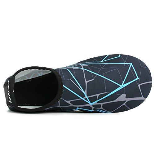 Aerobics Aqua Socks A Unisex Shoes darkblue Pool for Water Exercise Water Skin Barefoot SENFI vTHqxw