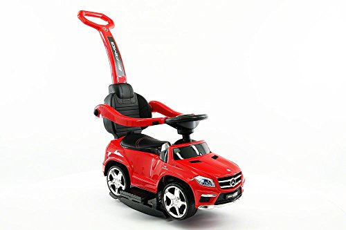 (Ride-on Toys SXZ1578RD Mercedes Push Car Ride-On, Red)