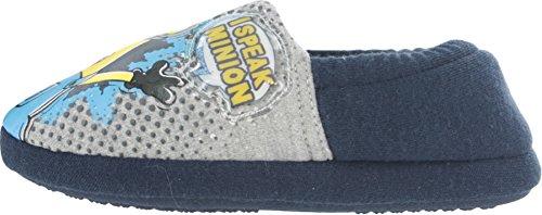 Foster Footwear Minions Speak Minion Boys Slippers Size USA 7 UK 6 Navy -