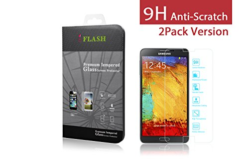iFlash® 2 Pack of Premium Tempered Glass Screen Protector F