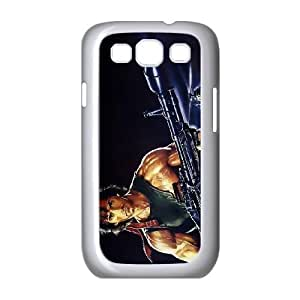 (GDLY) First Blood Samsung Galaxy S3 9300 Cell Phone Case White