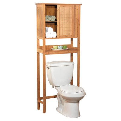 Target Marketing 23040NAT Bamboo Space Saver Cabinet, Bamboo (Bathroom Bamboo Cabinet)
