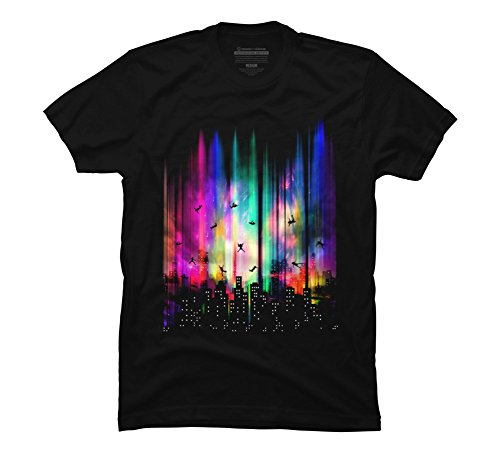 Fine T-shirts Design (Feel Without Gravity Men's Medium Black Graphic T Shirt - Design By Humans)
