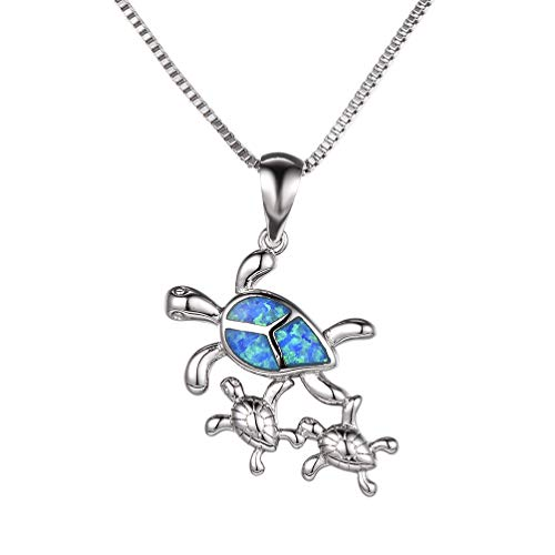 Vanessa Australian Fire Opal Sea Turtle Rings Pendant Necklace 18