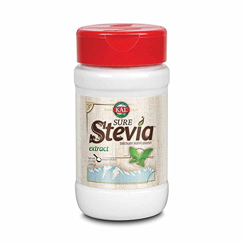KAL Sure Stevia Extract Powder, 3.5 OZ. | Best-Tasting, Zero Calorie, Low Glycemic Sugar Substitute | 1820 Servings