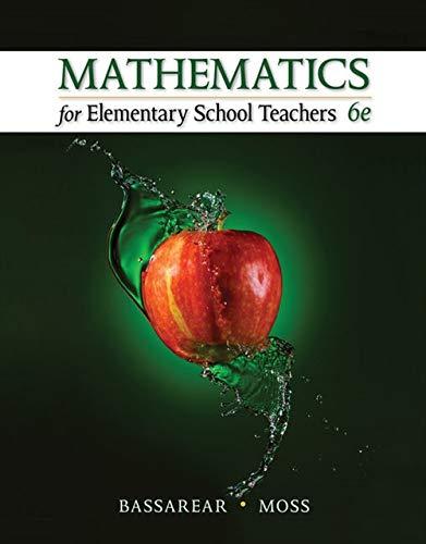 (Mathematics for Elementary School Teachers)